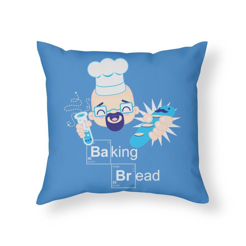 Baking Bread Home Throw Pillow by darkchoocoolat's Artist Shop