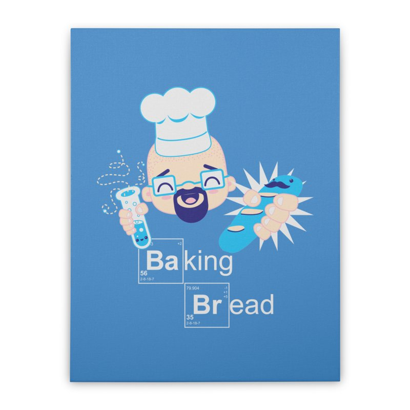 Baking Bread Home Stretched Canvas by darkchoocoolat's Artist Shop