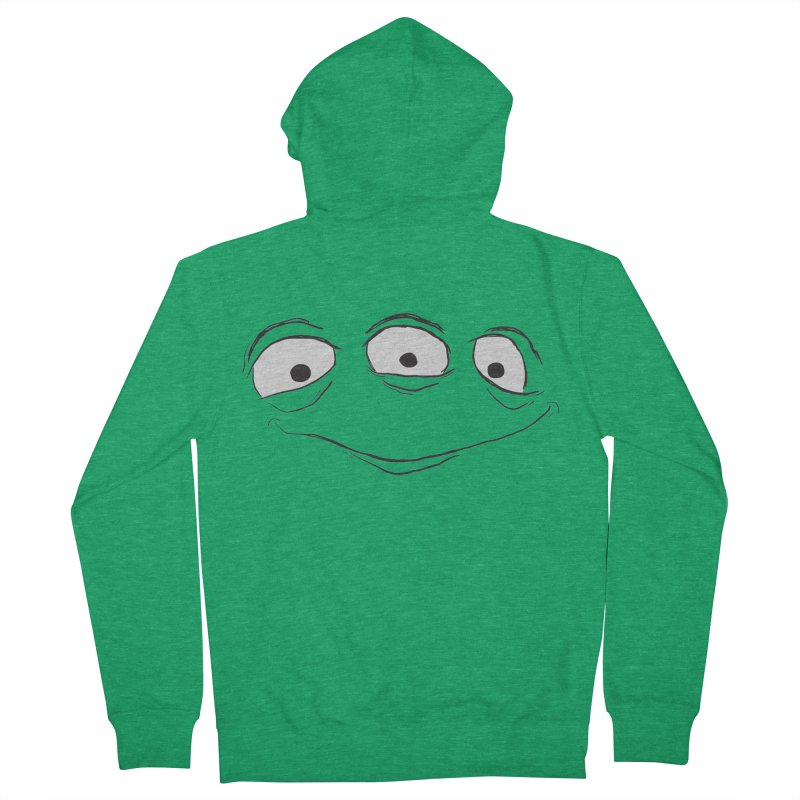3 Eyes Men's French Terry Zip-Up Hoody by darkchoocoolat's Artist Shop