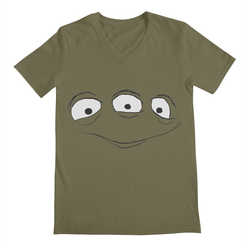 3 Eyes Men's Regular V-Neck by darkchoocoolat's Artist Shop