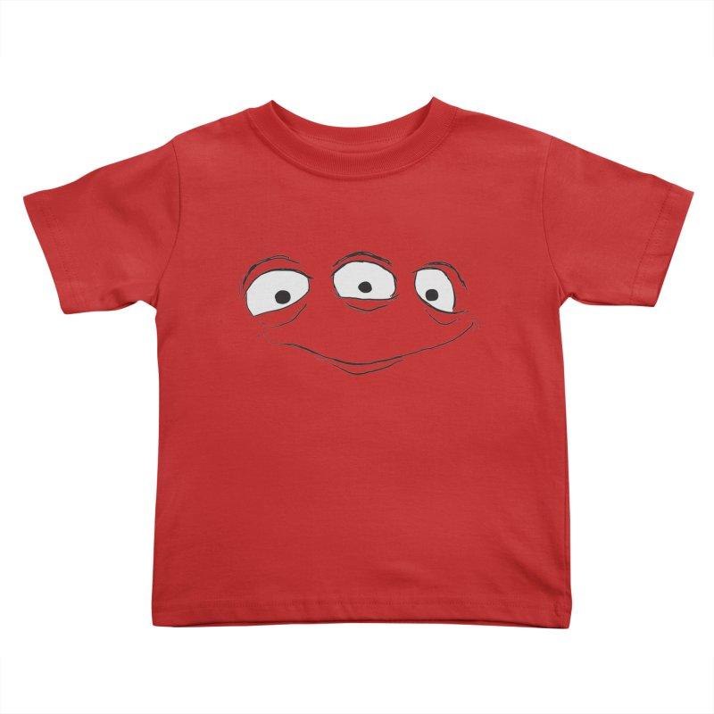 3 Eyes Kids Toddler T-Shirt by darkchoocoolat's Artist Shop