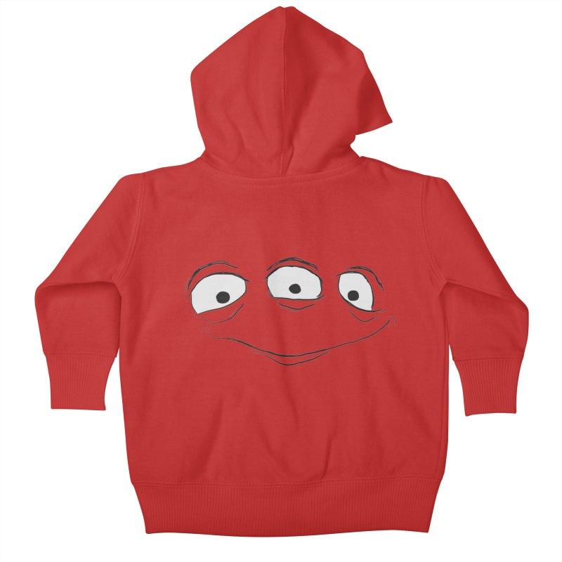 3 Eyes Kids Baby Zip-Up Hoody by darkchoocoolat's Artist Shop