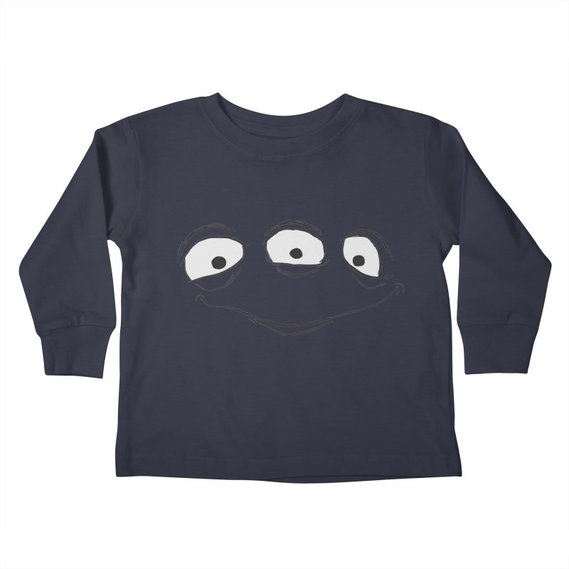 3 Eyes Kids Toddler Longsleeve T-Shirt by darkchoocoolat's Artist Shop