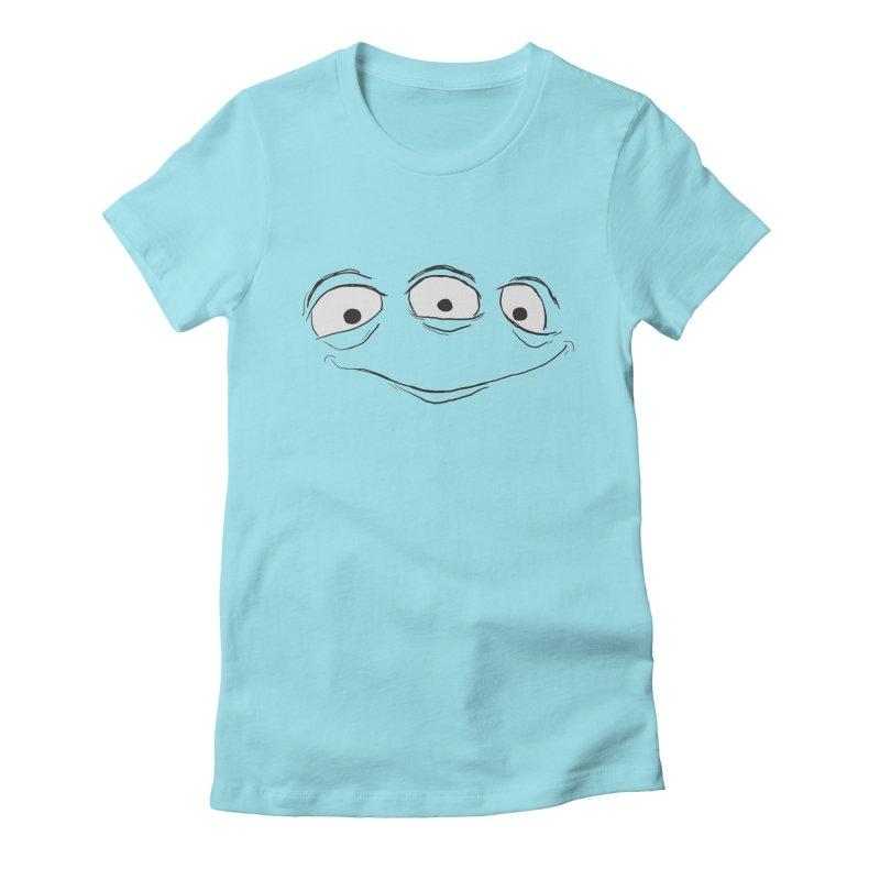 3 Eyes Women's Fitted T-Shirt by darkchoocoolat's Artist Shop