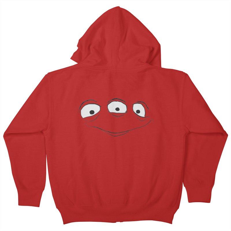 3 Eyes Kids Zip-Up Hoody by darkchoocoolat's Artist Shop