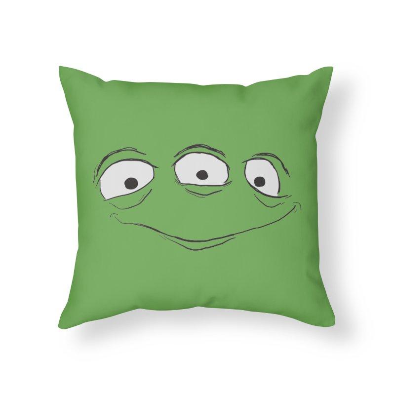 3 Eyes Home Throw Pillow by darkchoocoolat's Artist Shop