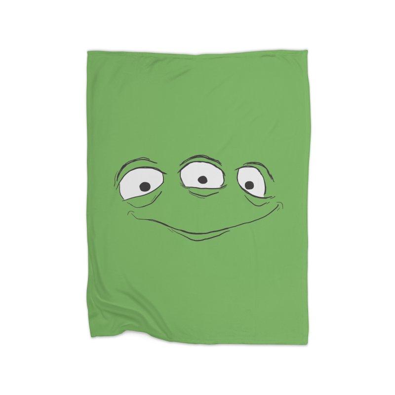 3 Eyes Home Fleece Blanket Blanket by darkchoocoolat's Artist Shop