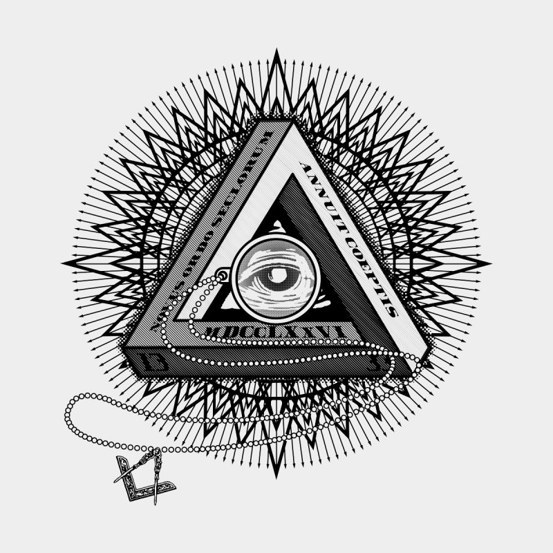 All Seeing Eye Black Home Rug by darkchoocoolat's Artist Shop