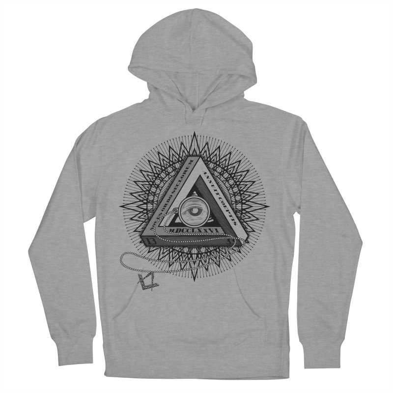 All Seeing Eye Black Women's French Terry Pullover Hoody by darkchoocoolat's Artist Shop