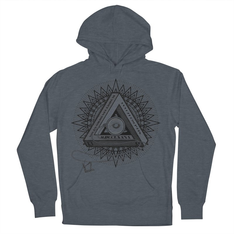 All Seeing Eye Black Men's French Terry Pullover Hoody by darkchoocoolat's Artist Shop