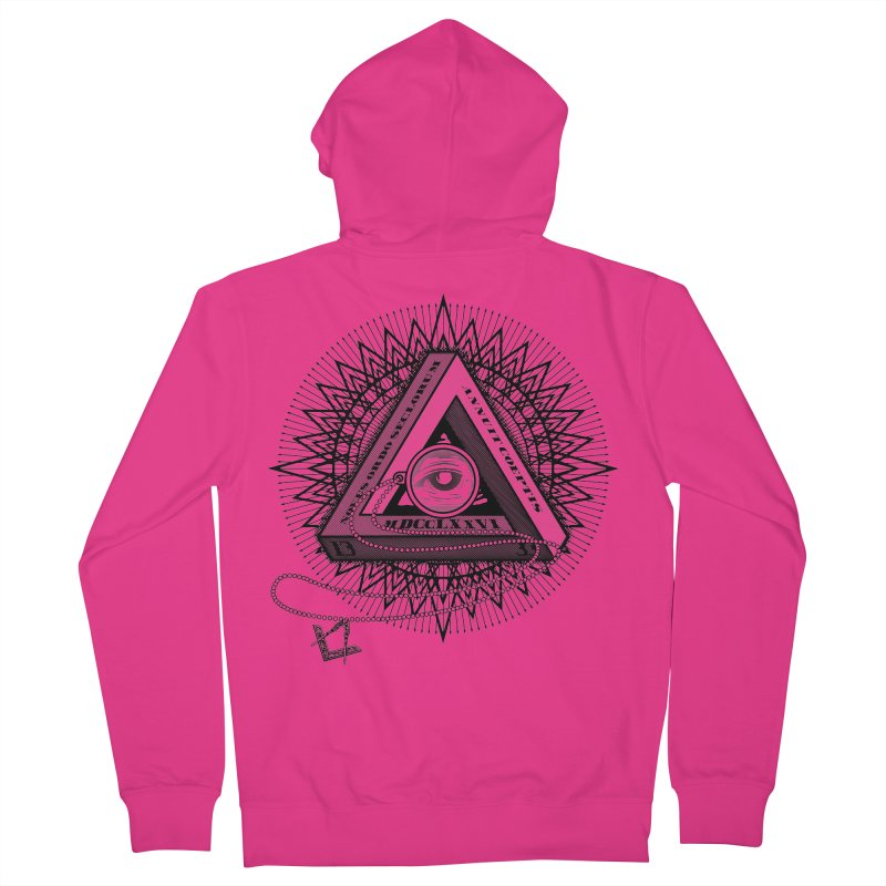 All Seeing Eye Black Men's Zip-Up Hoody by darkchoocoolat's Artist Shop