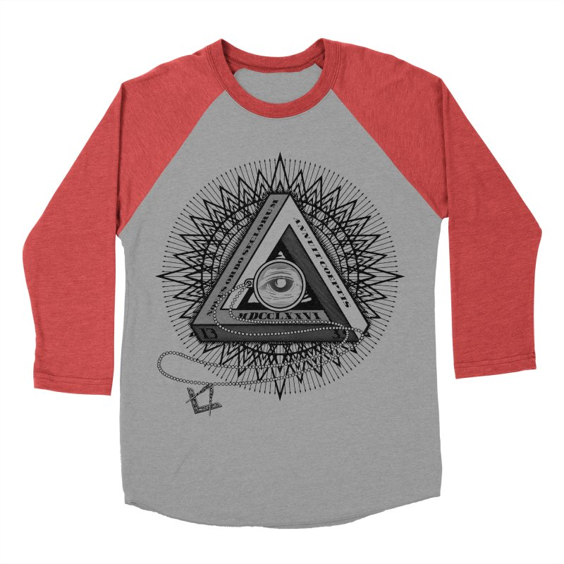 All Seeing Eye Black Women's Baseball Triblend Longsleeve T-Shirt by darkchoocoolat's Artist Shop