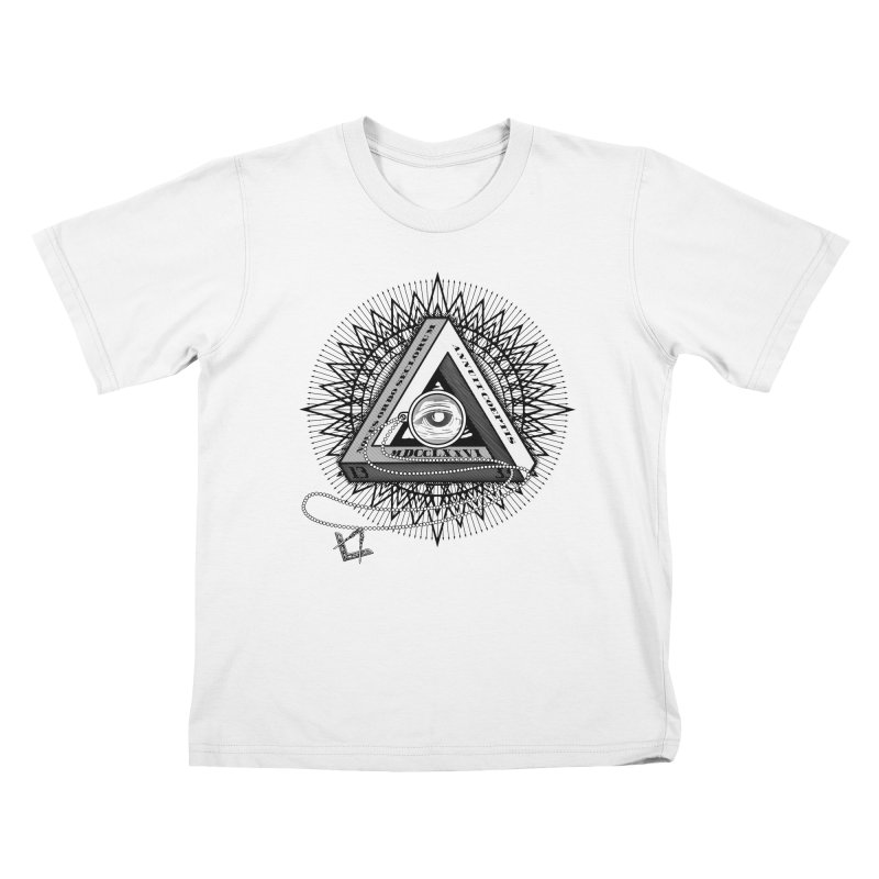 All Seeing Eye Black Kids T-Shirt by darkchoocoolat's Artist Shop