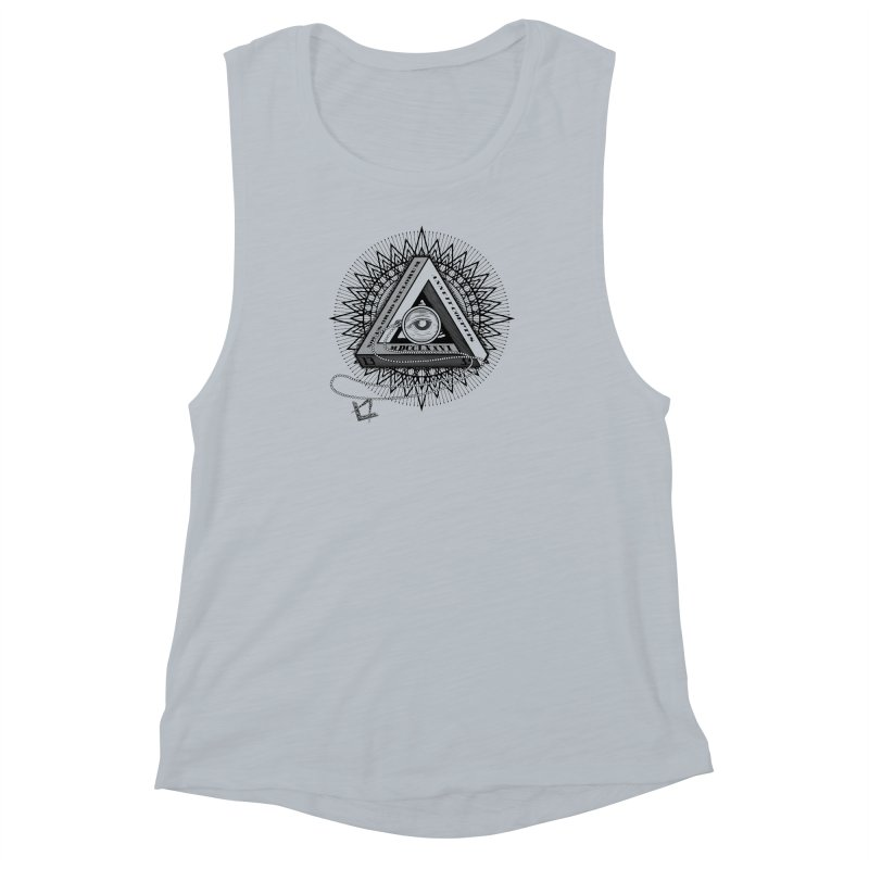 All Seeing Eye Black Women's Muscle Tank by darkchoocoolat's Artist Shop