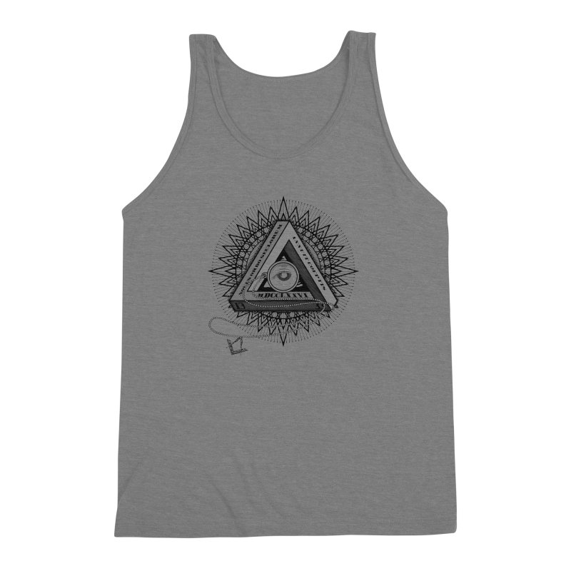 All Seeing Eye Black Men's Triblend Tank by darkchoocoolat's Artist Shop