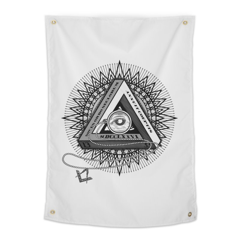 All Seeing Eye Black Home Tapestry by darkchoocoolat's Artist Shop