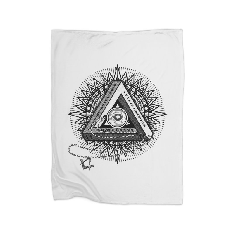 All Seeing Eye Black Home Blanket by darkchoocoolat's Artist Shop