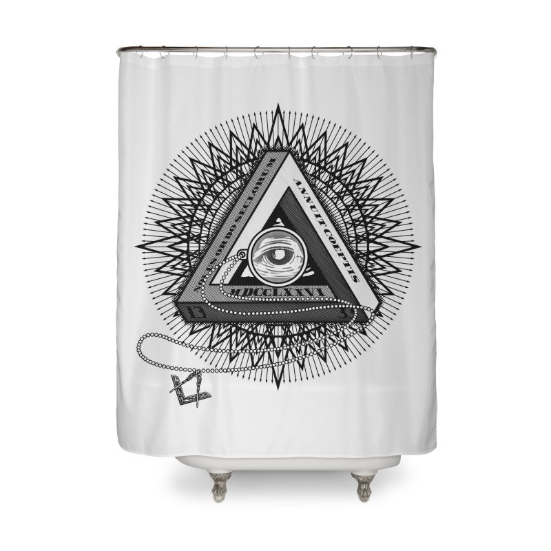 All Seeing Eye Black Home Shower Curtain by darkchoocoolat's Artist Shop
