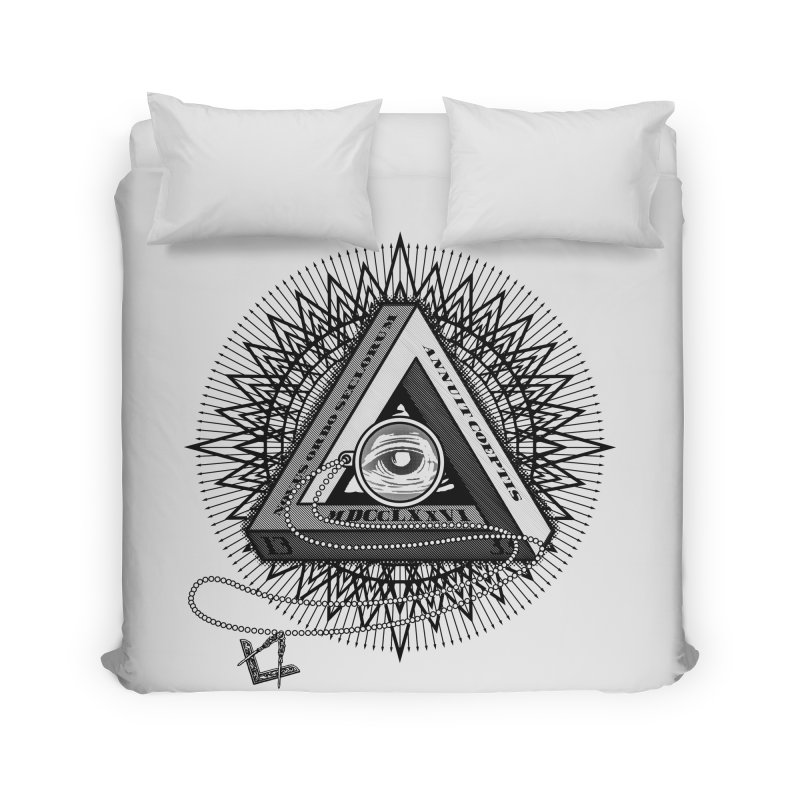 All Seeing Eye Black Home Duvet by darkchoocoolat's Artist Shop