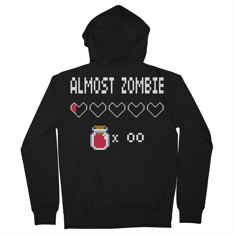 Almost Zombie Men's Zip-Up Hoody by darkchoocoolat's Artist Shop