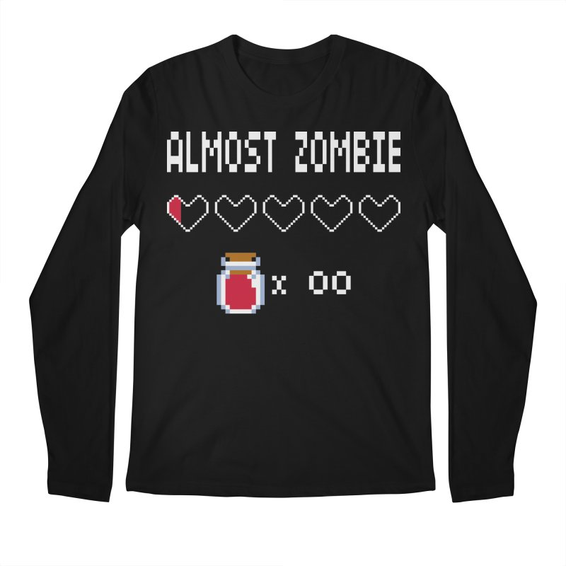 Almost Zombie Men's Longsleeve T-Shirt by darkchoocoolat's Artist Shop