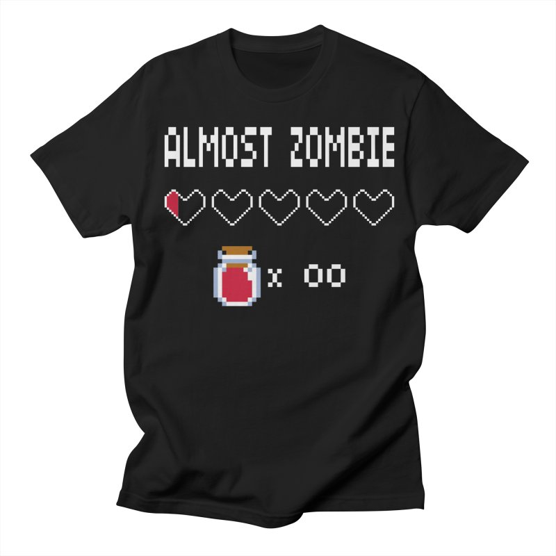 Almost Zombie Women's Regular Unisex T-Shirt by darkchoocoolat's Artist Shop
