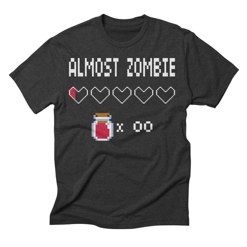 Almost Zombie Men's Triblend T-Shirt by darkchoocoolat's Artist Shop