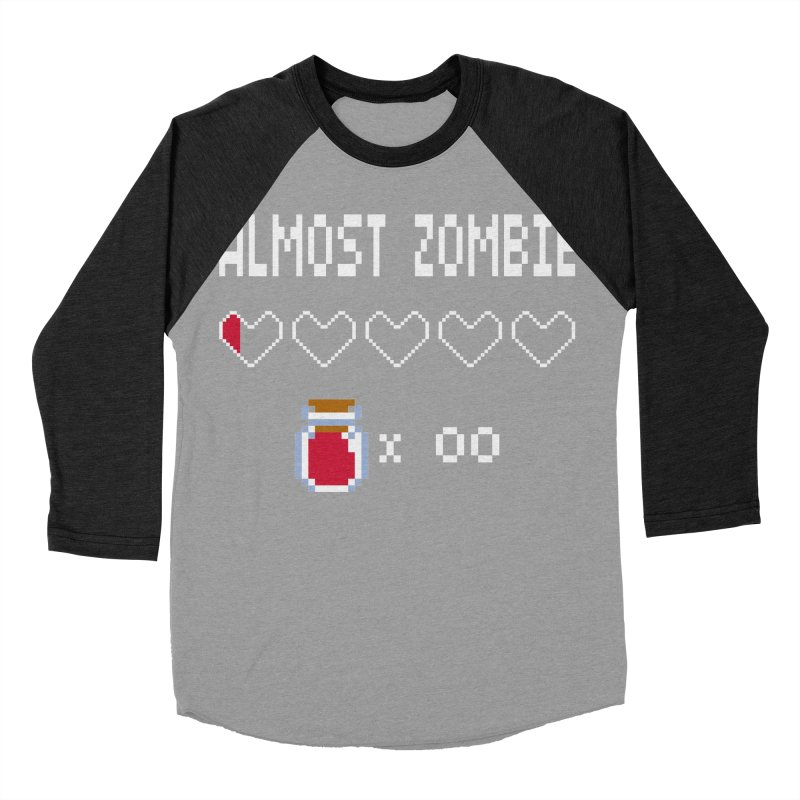 Almost Zombie Men's Baseball Triblend Longsleeve T-Shirt by darkchoocoolat's Artist Shop