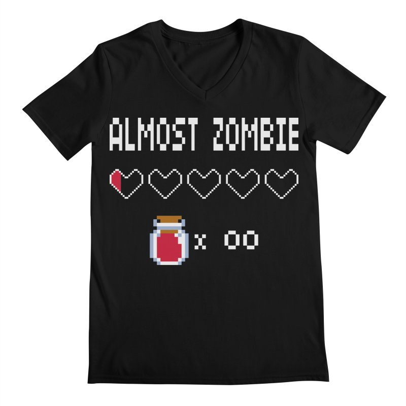 Almost Zombie Men's Regular V-Neck by darkchoocoolat's Artist Shop