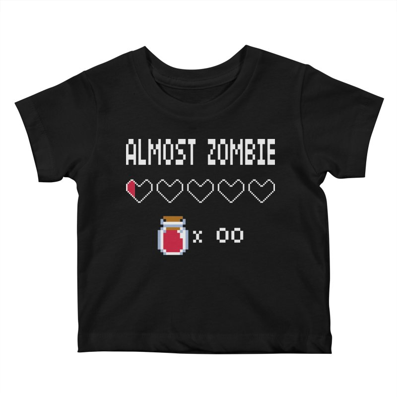 Almost Zombie Kids Baby T-Shirt by darkchoocoolat's Artist Shop
