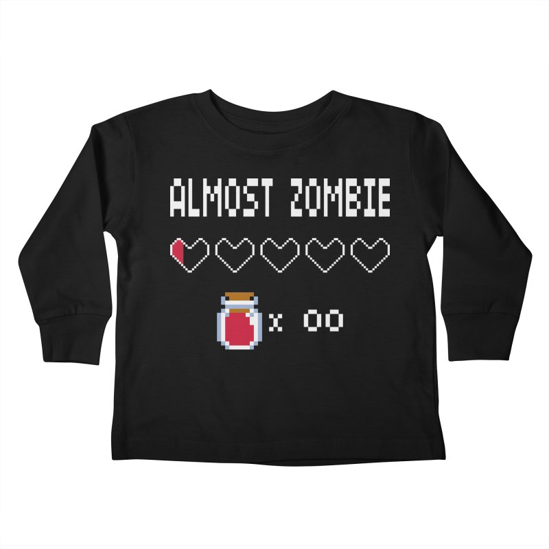 Almost Zombie Kids Toddler Longsleeve T-Shirt by darkchoocoolat's Artist Shop