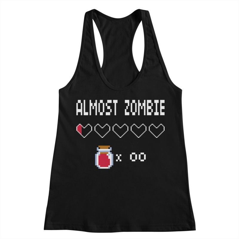 Almost Zombie Women's Racerback Tank by darkchoocoolat's Artist Shop