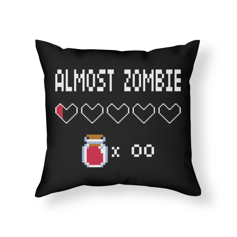 Almost Zombie Home Throw Pillow by darkchoocoolat's Artist Shop