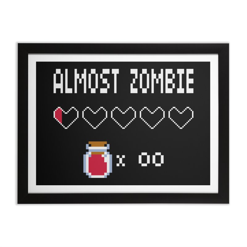 Almost Zombie Home Framed Fine Art Print by darkchoocoolat's Artist Shop