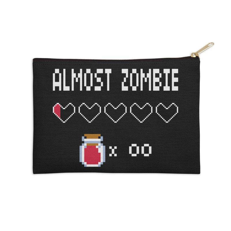 Almost Zombie Accessories Zip Pouch by darkchoocoolat's Artist Shop