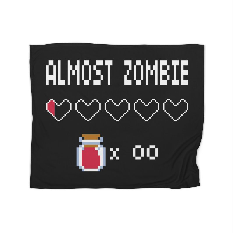 Almost Zombie Home Fleece Blanket Blanket by darkchoocoolat's Artist Shop