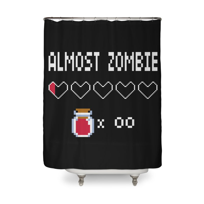 Almost Zombie Home Shower Curtain by darkchoocoolat's Artist Shop