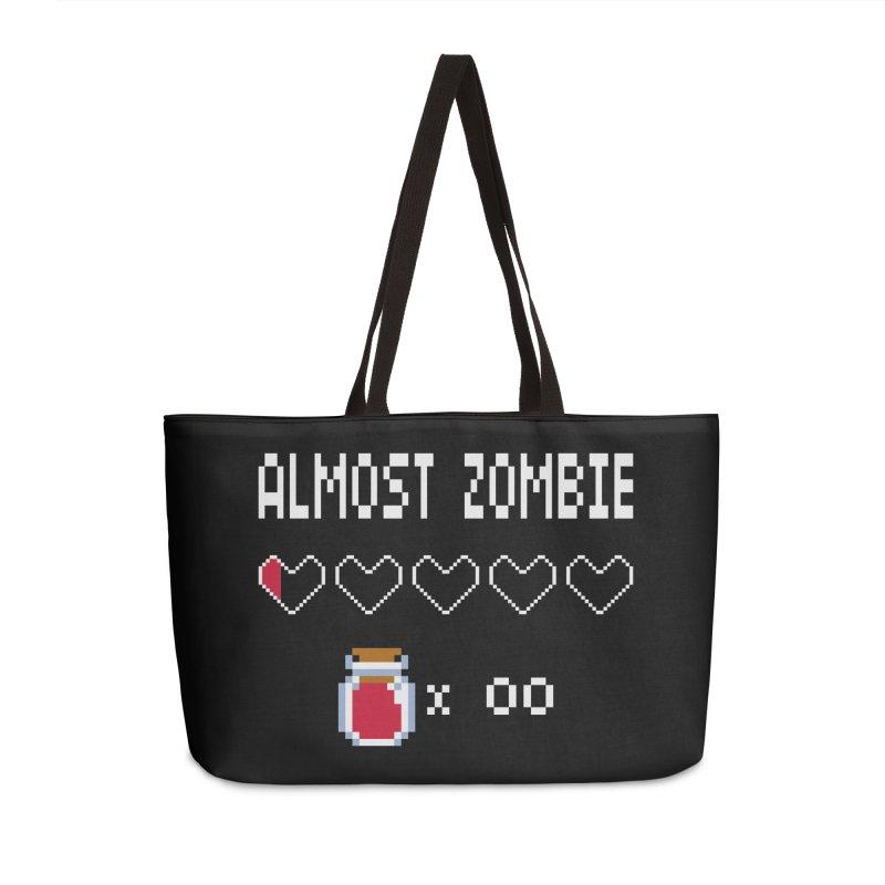 Almost Zombie Accessories Weekender Bag Bag by darkchoocoolat's Artist Shop