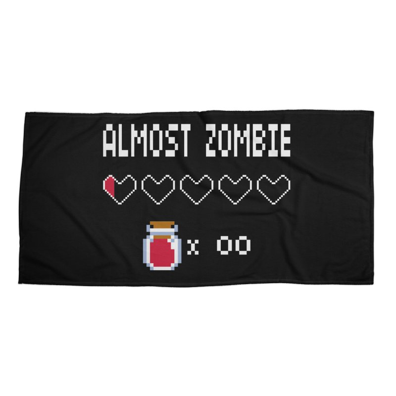 Almost Zombie Accessories Beach Towel by darkchoocoolat's Artist Shop
