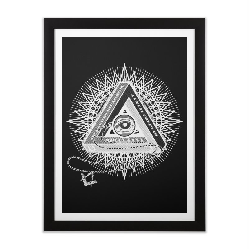 All Seeing Eye Clear Home Framed Fine Art Print by darkchoocoolat's Artist Shop
