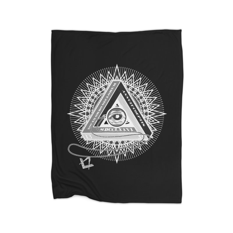 All Seeing Eye Clear Home Fleece Blanket Blanket by darkchoocoolat's Artist Shop