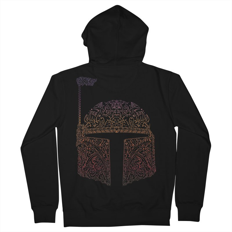 Bobba Neon Fett Men's Zip-Up Hoody by darkchoocoolat's Artist Shop
