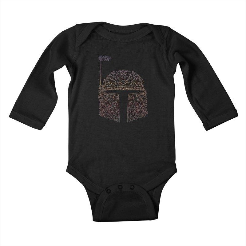 Bobba Neon Fett Kids Baby Longsleeve Bodysuit by darkchoocoolat's Artist Shop