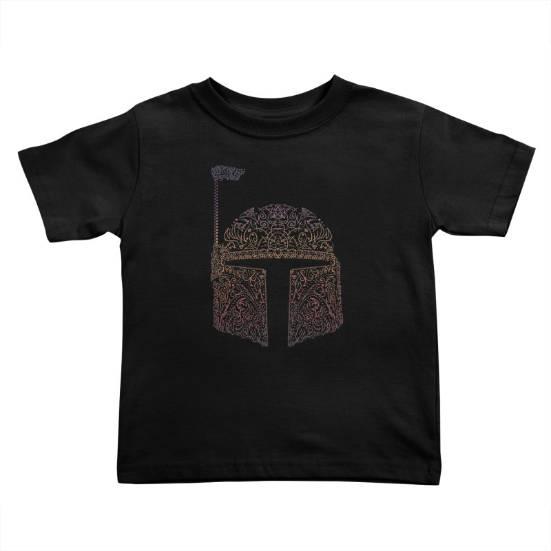 Bobba Neon Fett Kids Toddler T-Shirt by darkchoocoolat's Artist Shop