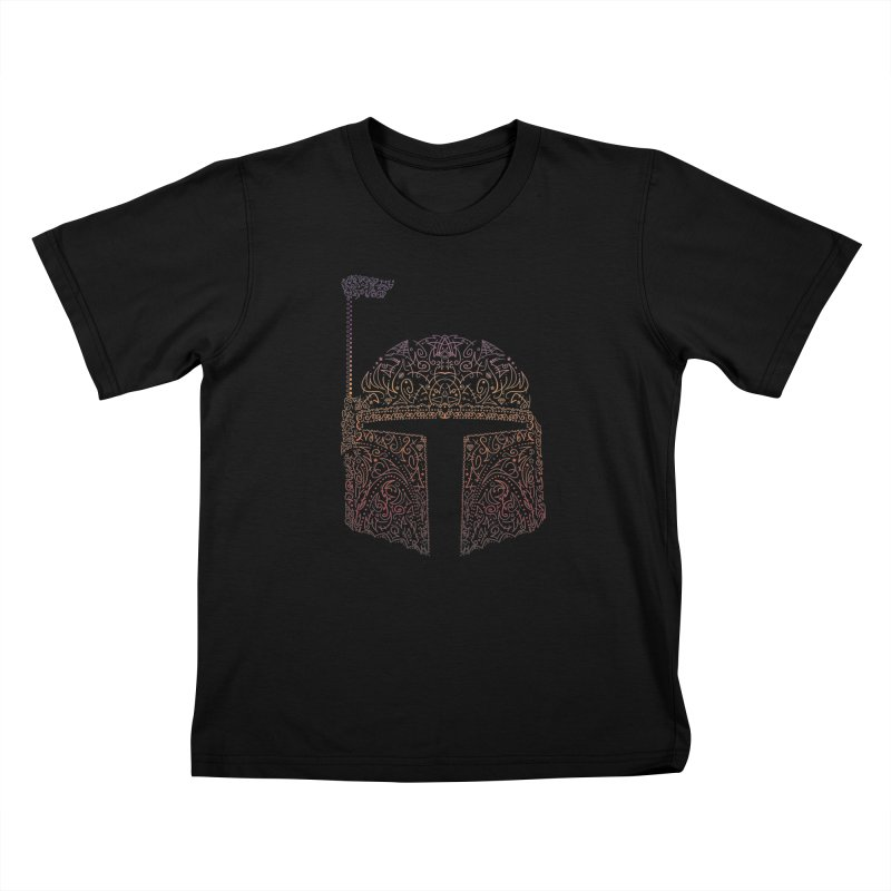 Bobba Neon Fett Kids T-Shirt by darkchoocoolat's Artist Shop