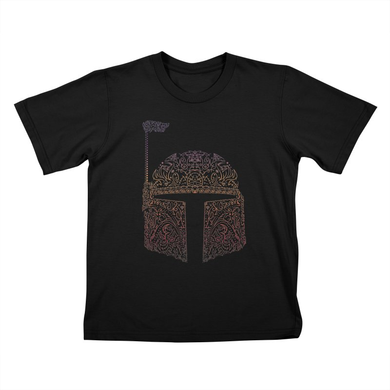 Bobba Neon Fett Kids T-Shirt by darkchoocoolat's Artist Shop