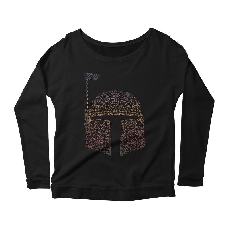 Bobba Neon Fett Women's Scoop Neck Longsleeve T-Shirt by darkchoocoolat's Artist Shop