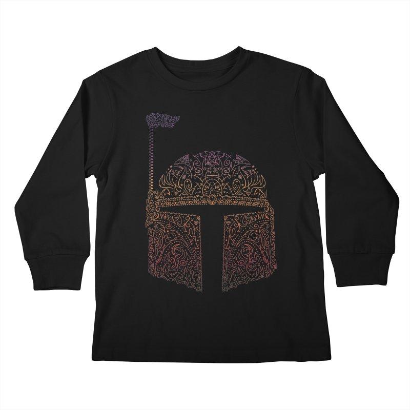 Bobba Neon Fett Kids Longsleeve T-Shirt by darkchoocoolat's Artist Shop