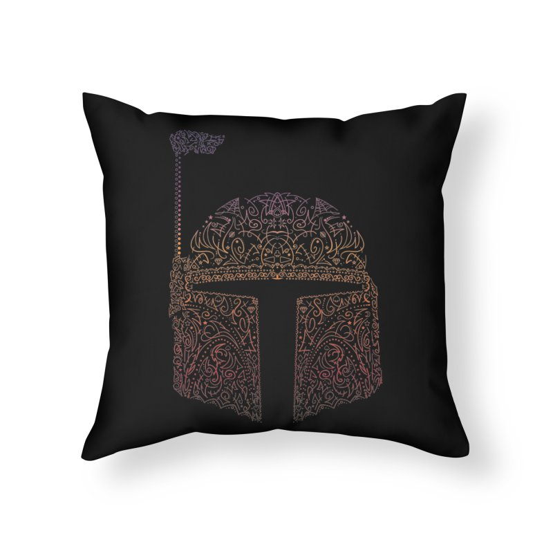 Bobba Neon Fett Home Throw Pillow by darkchoocoolat's Artist Shop