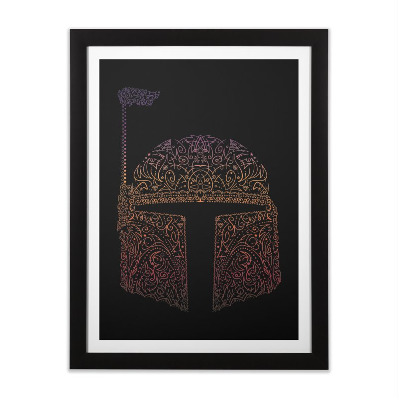 Bobba Neon Fett Home Framed Fine Art Print by darkchoocoolat's Artist Shop